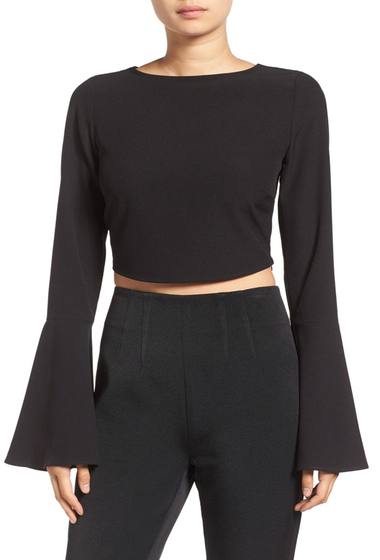 Imbracaminte Femei Kendall Kylie Bell Sleeve Crop Tank Top BLACK