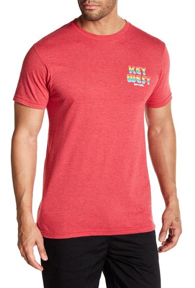 Imbracaminte Barbati Rip Curl Pump Key West Heathered Standard Fit Tee RED