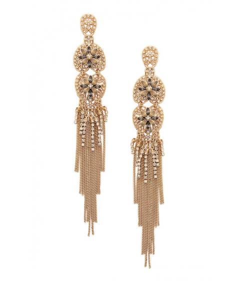 Bijuterii Femei Forever21 Fringe Drop Earrings GOLDCLEAR