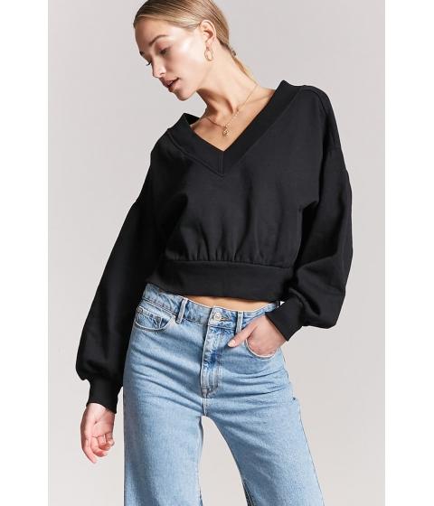 Imbracaminte Femei Forever21 Balloon-Sleeve Sweatshirt BLACK