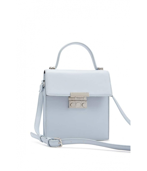 Genti Femei Forever21 Push-Lock Crossbody LIGHT BLUE