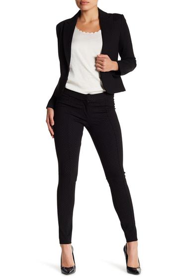 Imbracaminte Femei Amanda Chelsea Slim Fit Front Seam Print Pants Plus Size BLACK
