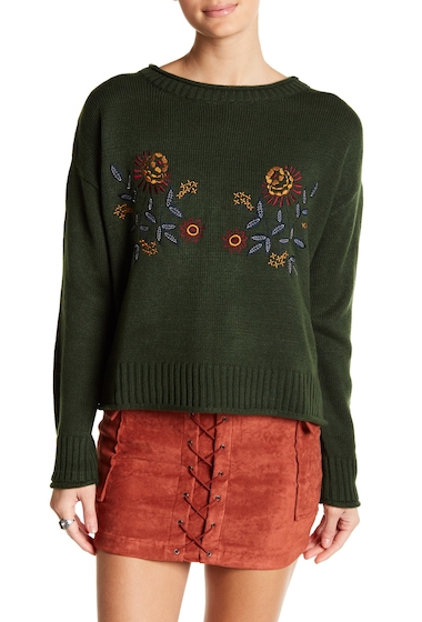 Imbracaminte Femei Jealous Tomato Embroidered Knit Sweater HUNTER GREEN