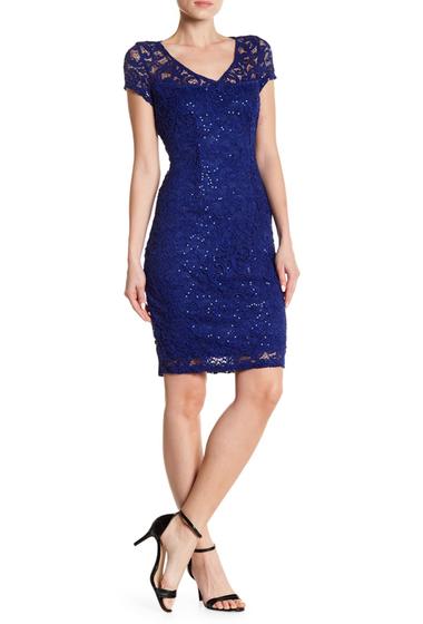 Imbracaminte Femei Marina Sequined Lace Dress COBALT