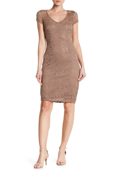 Imbracaminte Femei Marina Sequined Lace Dress TOAST