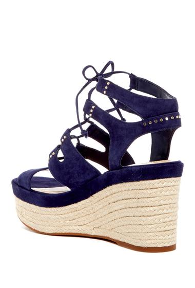 Incaltaminte Femei Vince Camuto Katila Lace-Up Espadrille Platform Wedge Sandal BLUE