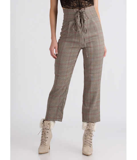 Imbracaminte Femei CheapChic Plaid Vibes High-waisted Corset Pants Multi
