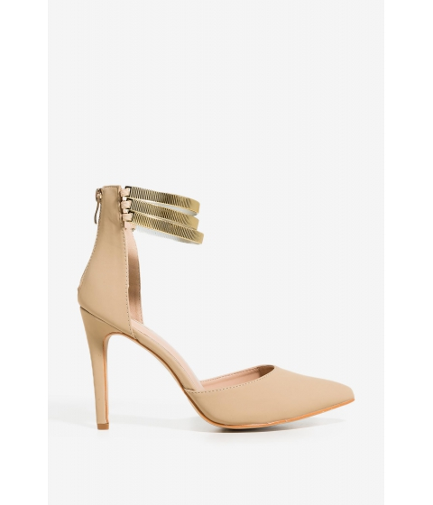 Incaltaminte Femei CheapChic Caught In The Metal Heel Nude