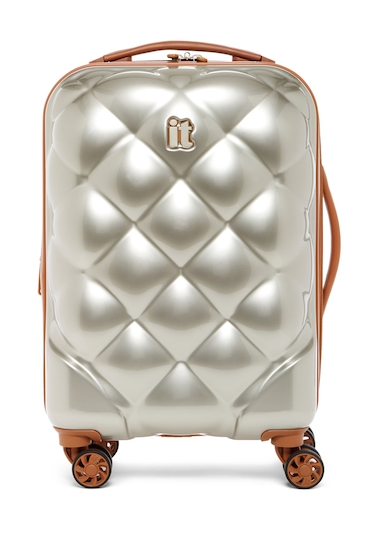Genti Femei IT Luggage 22 Saint Tropez Deux 8-Wheel Spinner Case DARK CHAMPAGNE W ALMOND TRIM
