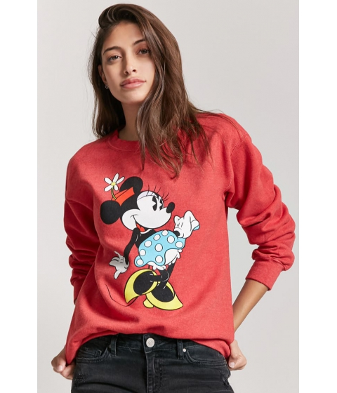 Imbracaminte Femei Forever21 Minnie Mouse Graphic Sweatshirt REDBLACK