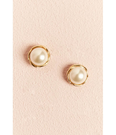 Bijuterii Femei Forever21 Faux Pearl Stud Earrings GOLDCREAM