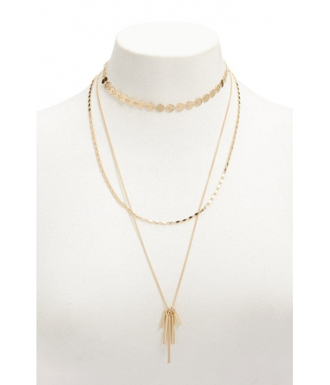 Bijuterii Femei Forever21 Layered Matchstick Pendant Necklace GOLD