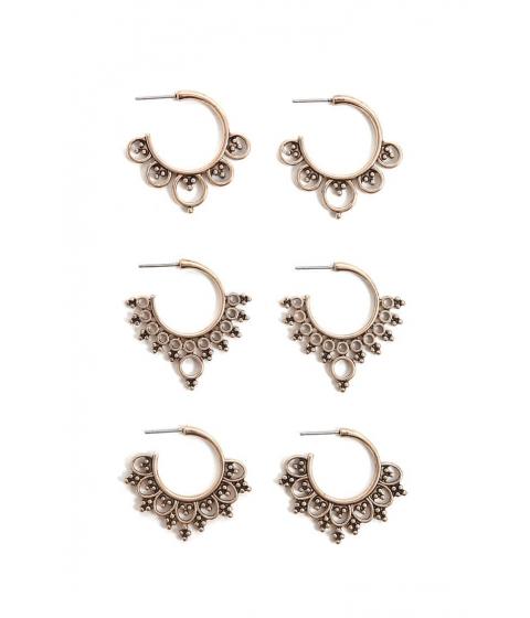 Bijuterii Femei Forever21 Geo Mini Hoop Earring Set ANTIQUE GOLD