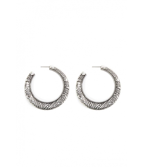 Bijuterii Femei Forever21 Abstract Hoop Earrings BSilver
