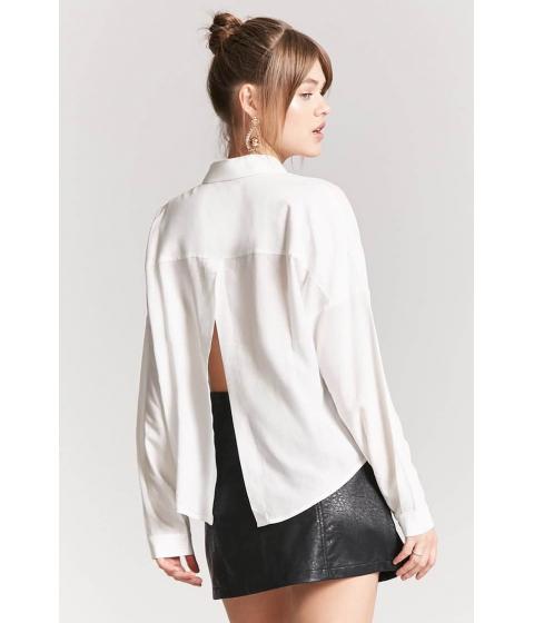 Imbracaminte Femei Forever21 Basic Woven Tulip-Back Shirt CREAM