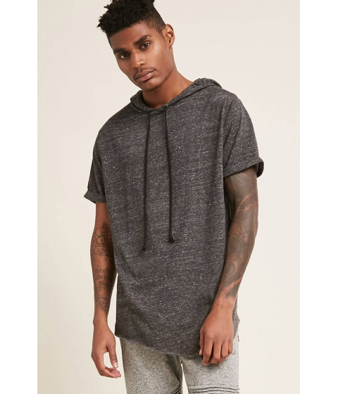Imbracaminte Barbati Forever21 Kayden K Hooded Asymmetrical Tee CHARCOAL