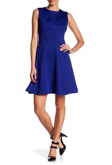Imbracaminte Femei Modern American Designer Sleeveless Scuba Seamed Dress ULTRAMARINE