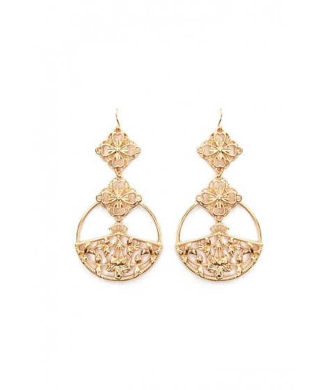 Bijuterii Femei Forever21 Floral Drop Earrings GOLD