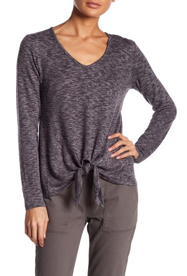 Imbracaminte Femei Bobeau Tie Hem Knit Shirt CHARCOALBLACK