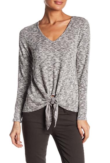 Imbracaminte Femei Bobeau Tie Hem Knit Shirt OATMEAL
