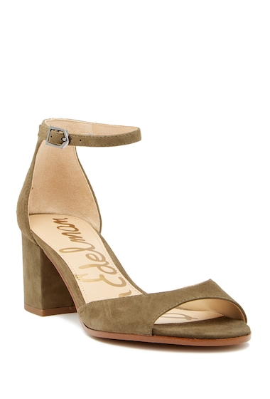 Incaltaminte Femei Sam Edelman Susie dOrsay Suede Ankle Strap Sandal MOSS GREEN