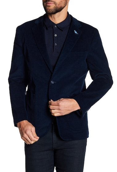 Imbracaminte Barbati TailorByrd Navy Blue Ribbed Corduroy Two Button Modern Fit Sport Coat NAVY