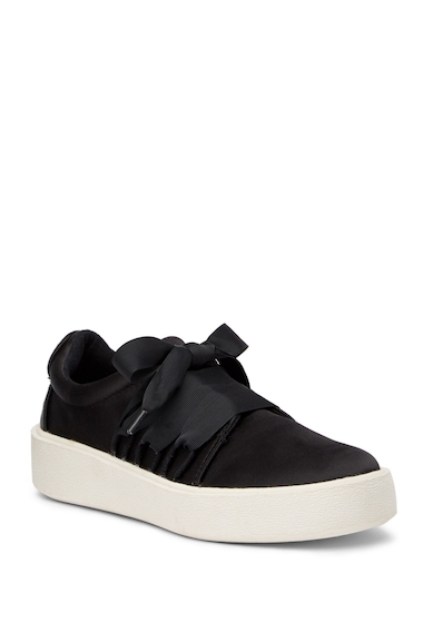 Incaltaminte Femei Madden Girl Lanney Lace-Up Sneaker BLK SATIN