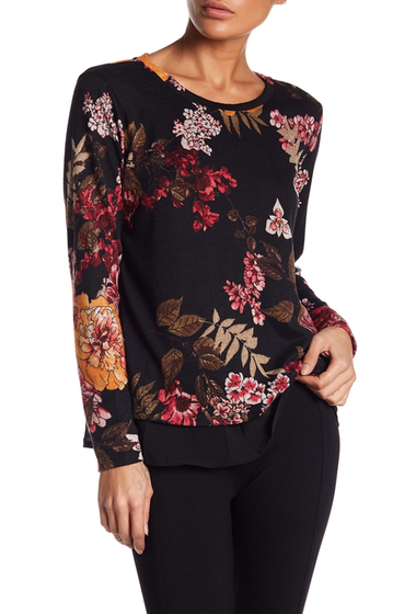 Imbracaminte Femei Bobeau Floral Open Back Sweater BLACKPINK FLORAL