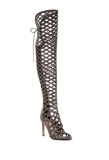Incaltaminte Femei Vince Camuto Keliana Over-the-Knee Caged Sandal GREY 02