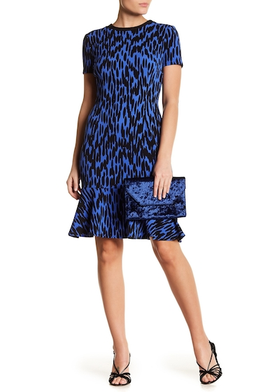 Imbracaminte Femei London Times Novelty Mini Zig Zig Flounce Dress BLUEBLACK