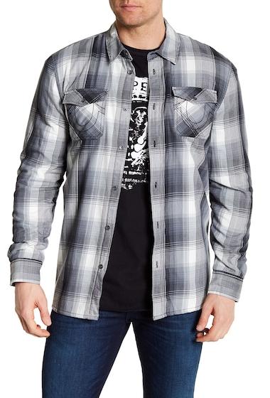 Imbracaminte Barbati True Religion Fleece Lined Plaid Utility Regular Fit Shirt SPECTRUM