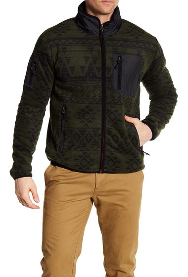 Imbracaminte Barbati Hawke Co Fleece Print Pullover OLIVE AZTE