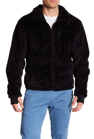 Imbracaminte Barbati Hawke Co Front Zip Fleece Jacket BLACK