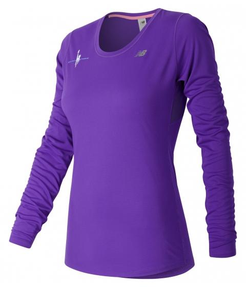 Incaltaminte Femei New Balance Womens NYC Marathon Training LS Tee Purple