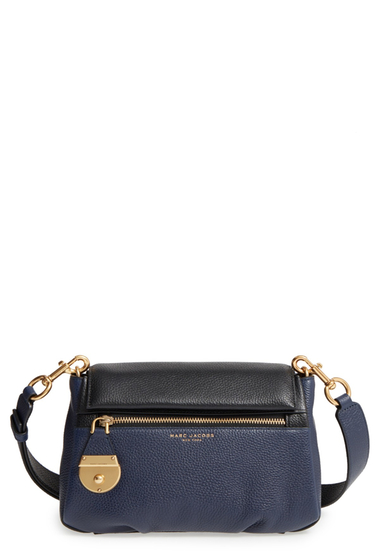 Genti Femei Marc Jacobs The Standard Mini Leather ShoulderCrossbody Bag MIDNIGHT BLUE MULTI