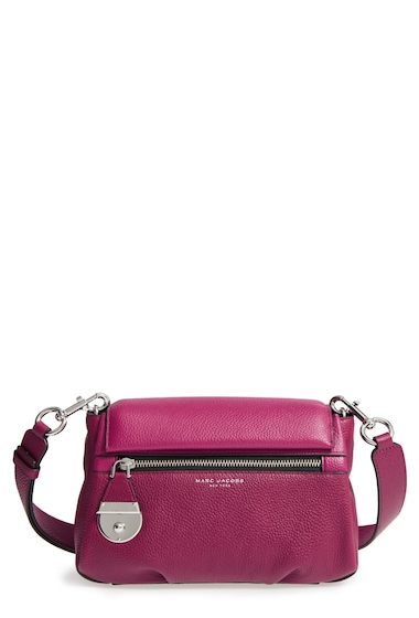 Genti Femei Marc Jacobs The Standard Mini Leather ShoulderCrossbody Bag BERRY MULTI