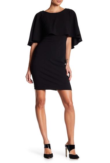 Imbracaminte Femei Modern American Designer Scuba Crepe Popover Solid Dress BLK