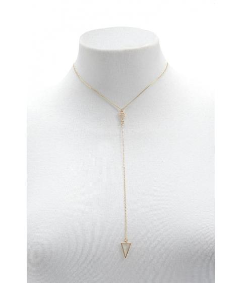 Bijuterii Femei Forever21 Cutout Drop Chain Necklace GOLD