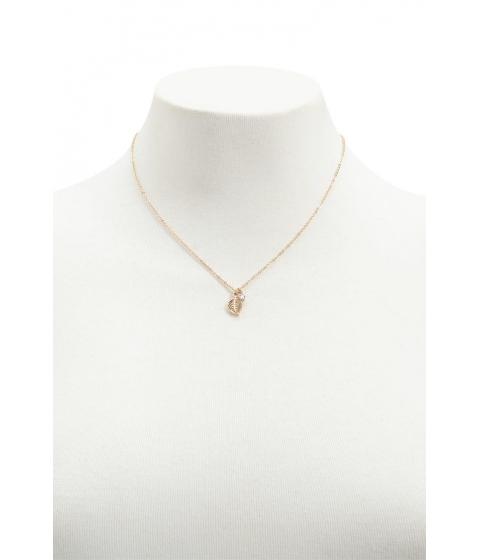 Bijuterii Femei Forever21 Leaf Charm Necklace GOLDCLEAR