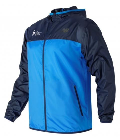 Imbracaminte Barbati New Balance Mens NYC Marathon Training Jacket Blue with Navy