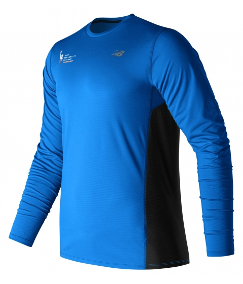 Imbracaminte Barbati New Balance Mens NYC Marathon Training LS Tee Blue