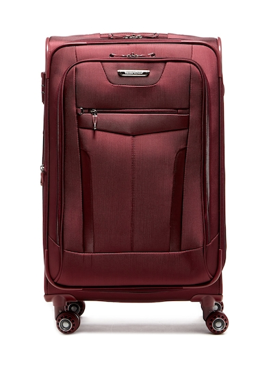 Genti Femei Travelers Choice Clayton Ballistic Nylon 30 Expandable Spinner BURGUNDY