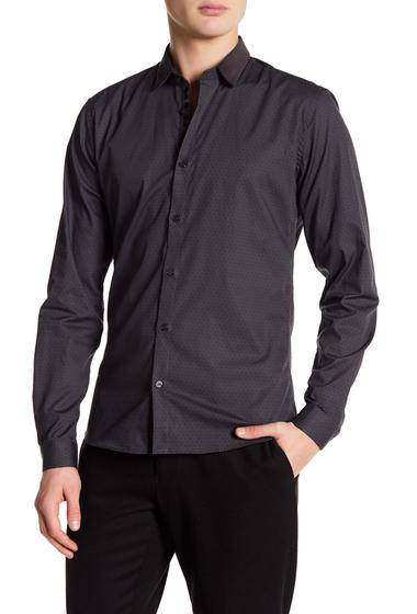 Imbracaminte Barbati DAVID NAMAN Print Contrast Slim Fit Shirt GREY