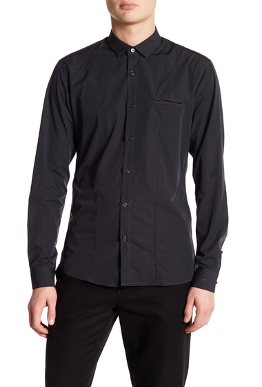 Imbracaminte Barbati DAVID NAMAN Print Slim Fit Shirt BLACK