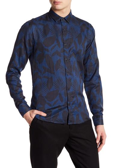 Imbracaminte Barbati DAVID NAMAN Print Slim Fit Shirt BLUE