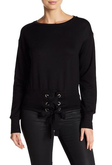 Imbracaminte Femei Harlowe Graham Long Sleeve Cropped Corset Sweatshirt BLKBLK TIE