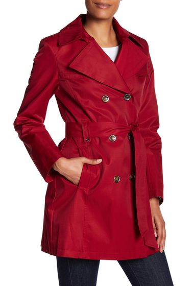 Imbracaminte Femei Via Spiga Double Button Trench Coat CRIMSON
