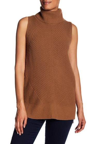 Imbracaminte Femei BOSS Hugo Boss Fala Cowl Neck Sleeveless Knit Sweater RUSTCOPPER