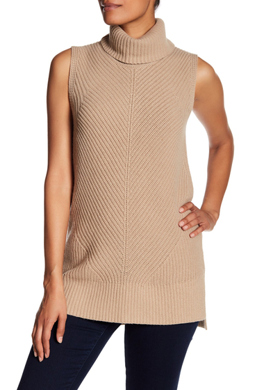 Imbracaminte Femei BOSS Hugo Boss Fala Cowl Neck Sleeveless Knit Sweater BROWN
