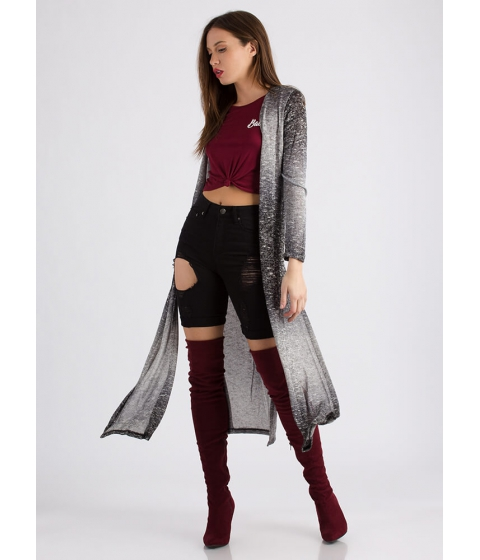 Imbracaminte Femei CheapChic Snow Bunny Knit Duster Cardigan Grey